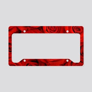 Red Roses License Plate Holder