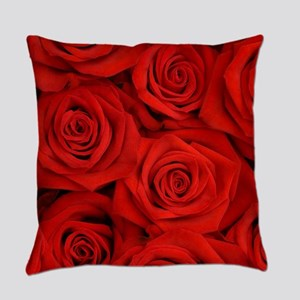 Red Roses Everyday Pillow