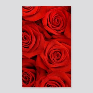 Red Roses Area Rug