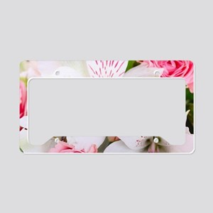 Lilies And Roses Bouchet License Plate Holder