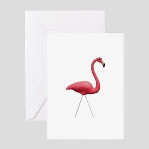 Retro Pink Flamingo Greeting Card