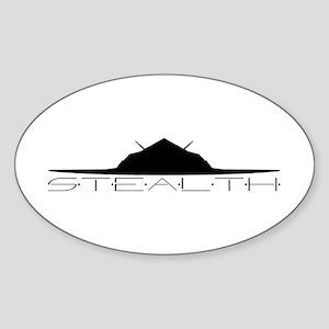 Black Stealth Aircraft Sticker
