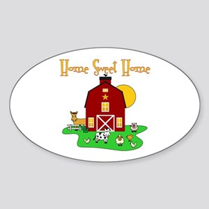 Scott Designs Farm Life Oval Sticker