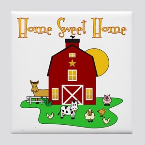 Scott Designs Farm Life Tile Coaster