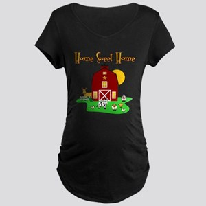Scott Designs Farm Life Maternity Dark T-Shirt