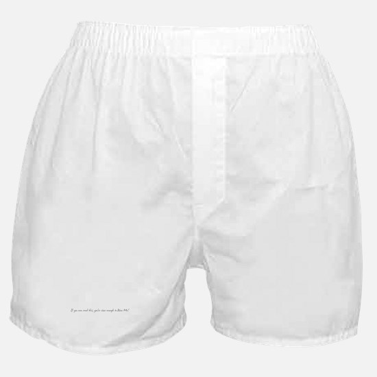 If you can read this... Boxer Shorts