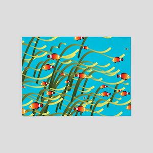 Underwater scene 5'x7'Area Rug