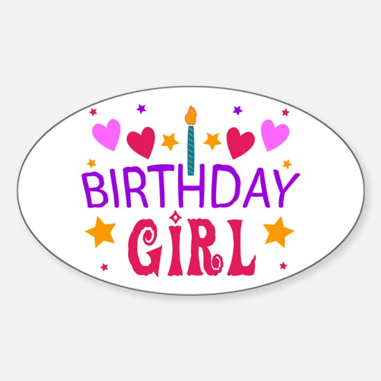 Birthday Girl Oval Decal
