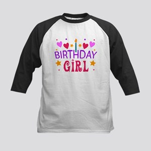 Birthday Girl Kids Baseball Jersey