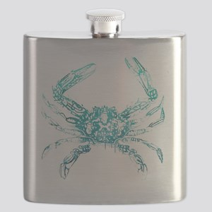 coastal nautical beach crab Flask