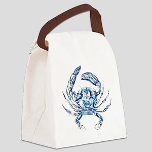 coastal nautical beach crab Canvas Lunch Bag