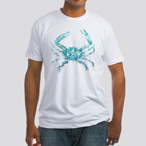 coastal nautical beach crab Fitted T-Shirt