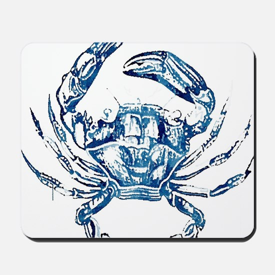 coastal nautical beach crab Mousepad