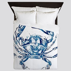 coastal nautical beach crab Queen Duvet