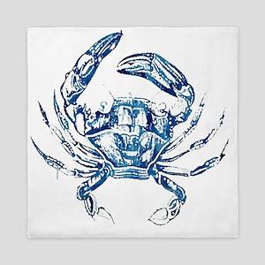 coastal nautical beach crab Queen Duvet