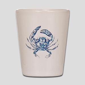 coastal nautical beach crab Shot Glass
