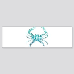 coastal nautical beach crab Bumper Sticker
