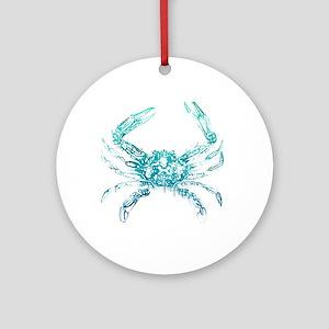 coastal nautical beach crab Ornament (Round)