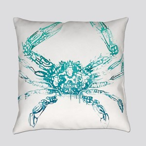 coastal nautical beach crab Everyday Pillow