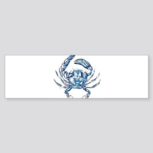 coastal nautical beach crab Bumper Sticker