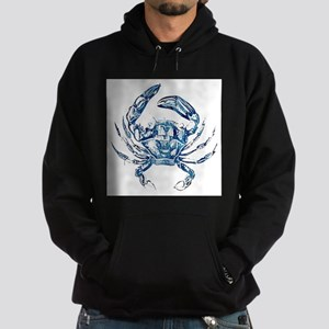 coastal nautical beach crab Hoodie (dark)