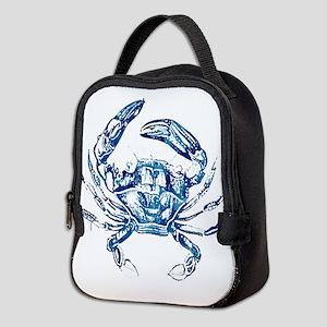 coastal nautical beach crab Neoprene Lunch Bag