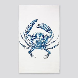 coastal nautical beach crab Area Rug
