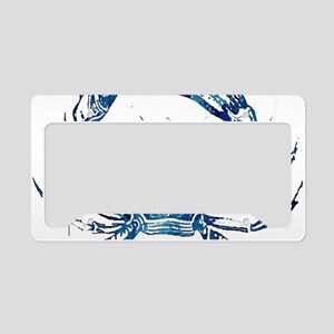 coastal nautical beach crab License Plate Holder