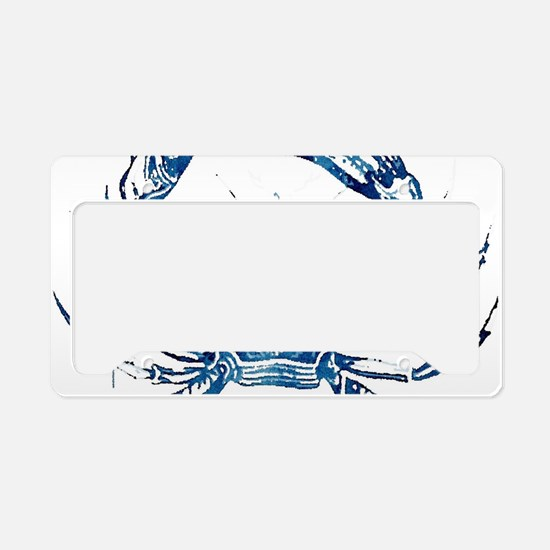 coastal nautical beach crab License Plate Holder
