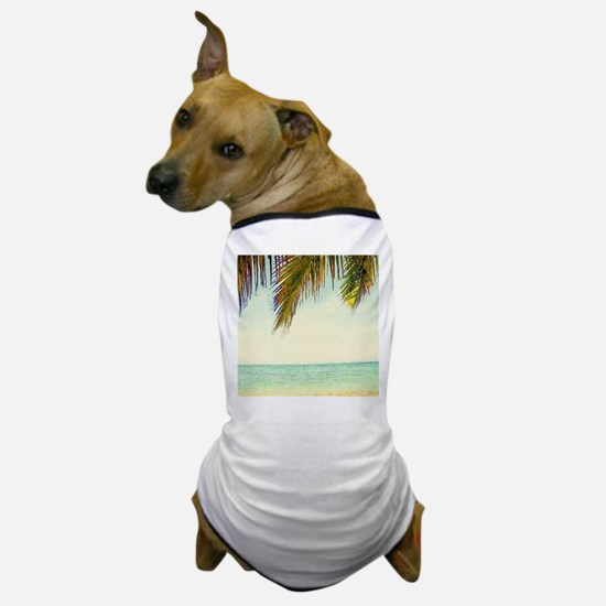 tropical sky summer beach Dog T-Shirt
