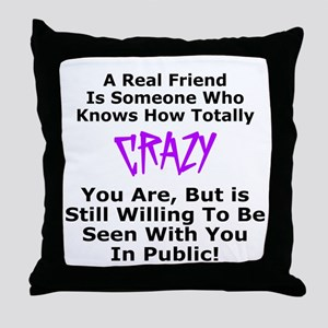 A REAL FRIEND Throw Pillow