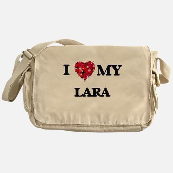 I Love MY Lara Messenger Bag