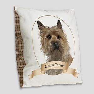 Cairn Terrier Burlap Throw Pillow