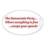 Dem Party Freebies Sticker