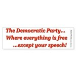 Dem Party Freebies Bumper Sticker
