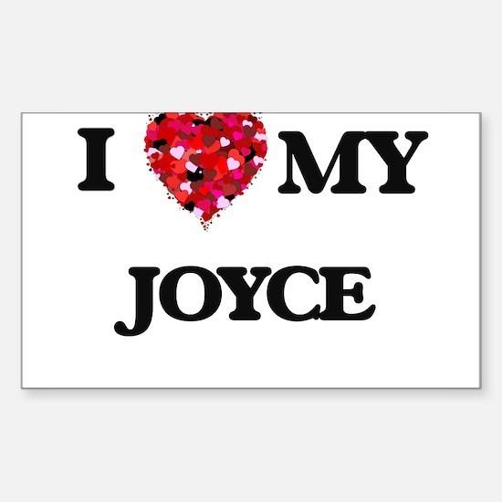 I Love MY Joyce Decal