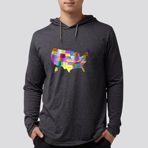 Labeled Colorful USA Long Sleeve T-Shirt