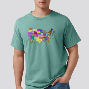 Labeled Colorful USA T-Shirt