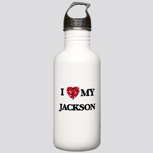 I Love MY Jackson Stainless Water Bottle 1.0L