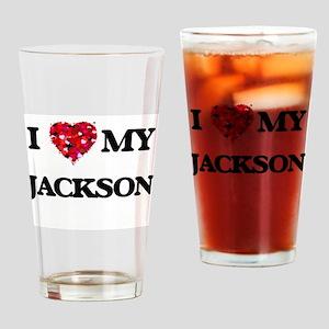 I Love MY Jackson Drinking Glass