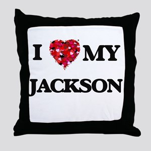 I Love MY Jackson Throw Pillow