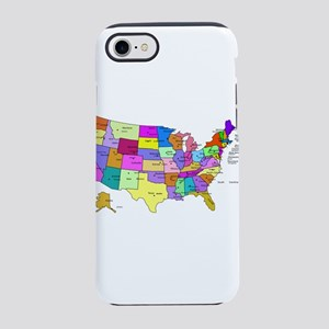 Labeled Colorful USA iPhone 8/7 Tough Case