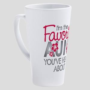 Favorite Aunt 17 oz Latte Mug
