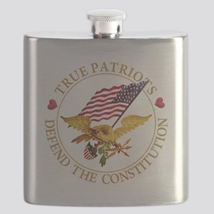 True Patriots Defend the Constitution Flask