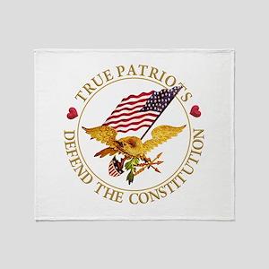 True Patriots Defend the Constitutio Throw Blanket