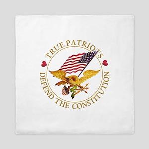 True Patriots Defend the Constitution Queen Duvet