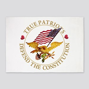 True Patriots Defend the Constituti 5'x7'Area Rug