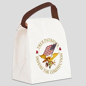 True Patriots Defend the Constitu Canvas Lunch Bag