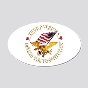 True Patriots Defend the Con 20x12 Oval Wall Decal