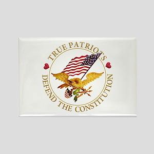 True Patriots Defend the Constitu Rectangle Magnet